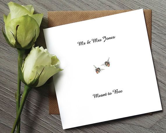 Cute Wedding Invitation   Meant to Bee   Bee Invitation   Wedding Invitation    Wedding invitations UK   Wedding Invites   Wedding Invite7 best Wedding Cards images on Pinterest   Watercolor print  Funny  . Personalized Wedding Cards. Home Design Ideas