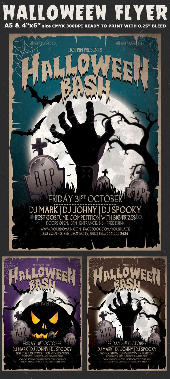 halloween flyer background free