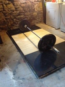how to build a deadlift platform DIY Final Product!