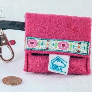 """Hundemarken-Tasche """"Blumenkind"""" pink  8,90€"""