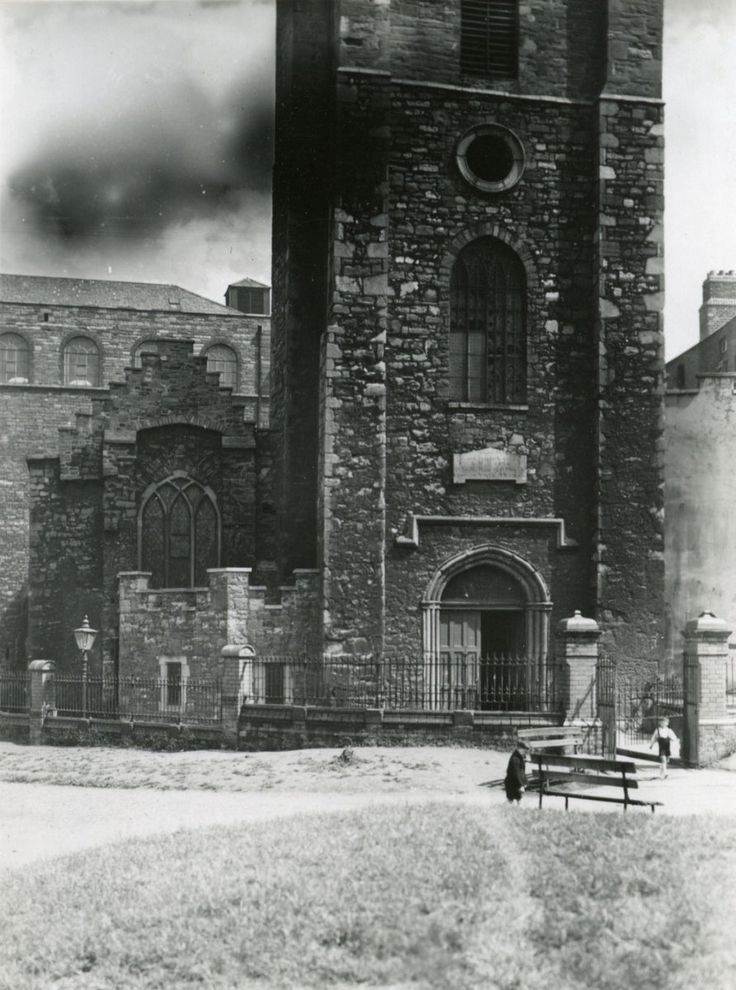 St Audoens Church in the late 1800's