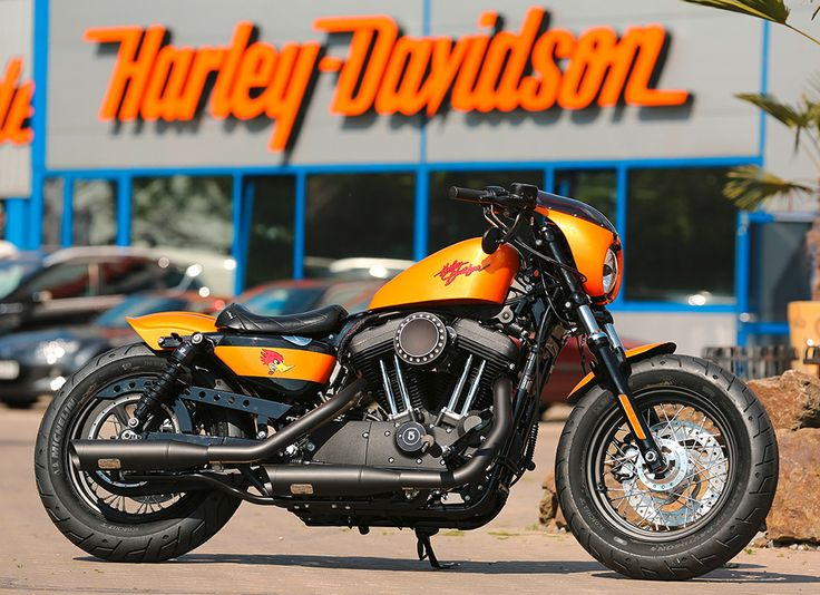 Customized Harley Davidson Sportster 48 With New Racer Parts By Thunderbike