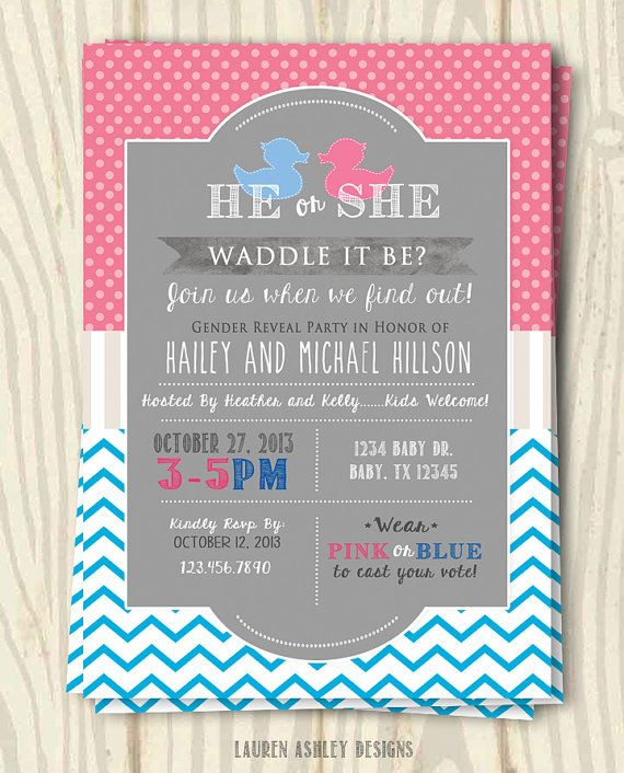 31 best images about Gender Reveal – Gender Reveal Party Invite