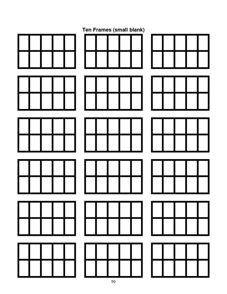 ten frame template printable | Document Sample | Classroom Ideas ...