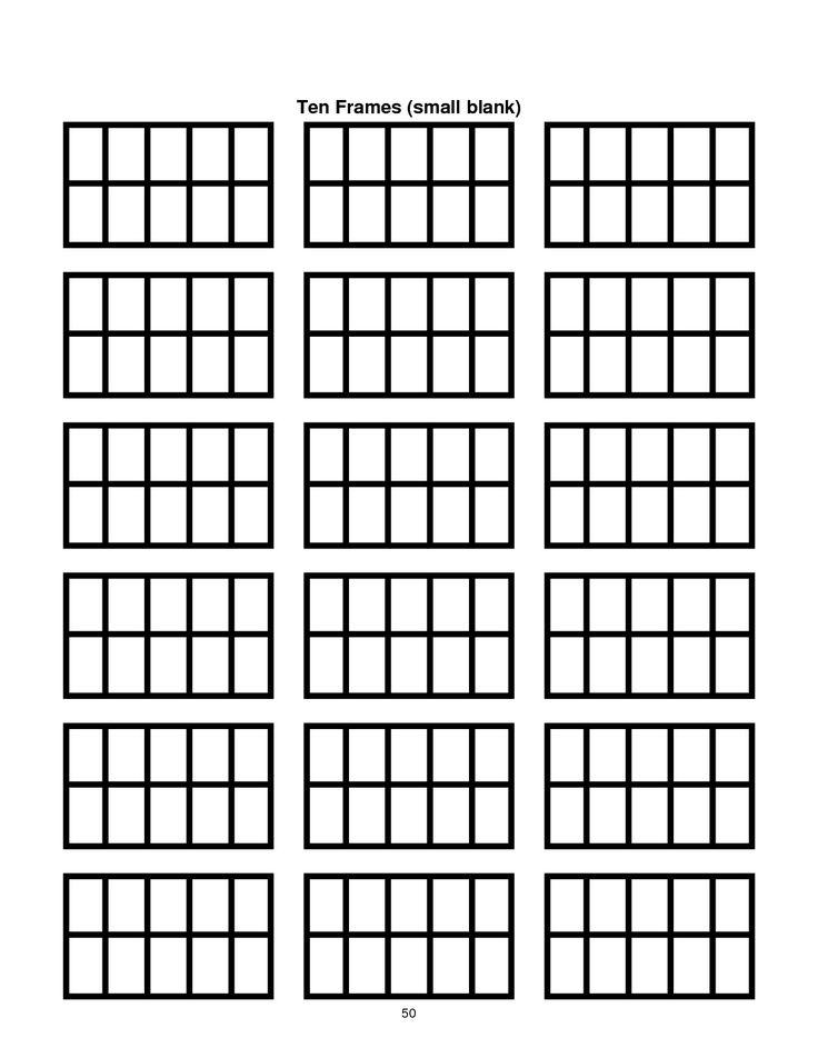 8 best images about Ten frame math talk – Ten Frame Template