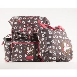 For the girls! The danish brand Jeva is known for it's high quality school bags.   (Brun Jeva Intermediate Skoletaske)