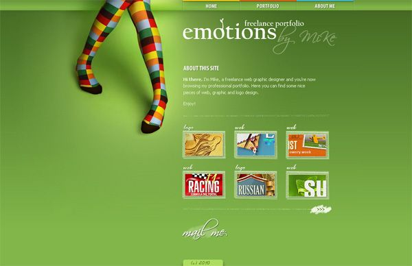 emotions Portfolio. #color  Less is More: Fundamentals of Minimalist Web Design | Webdesigntuts+