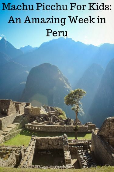 Peru and Machu Picchu are amazing places to take your children for a family holiday or vacation.  This article provides a 7 day itinerary of Peru and Machu Picchu that was amazing.