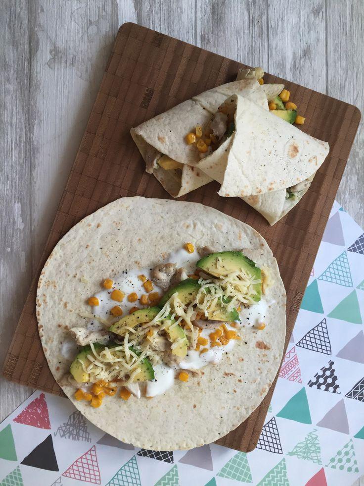 Tortillas mit Hähnchen und Avocado