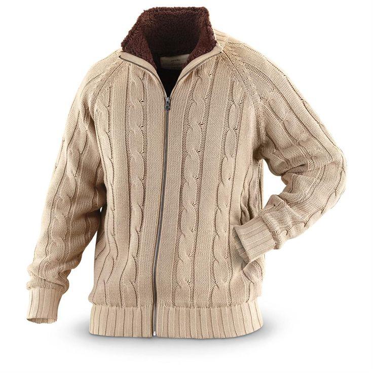 Weatherproof® Vintage Full-zip Cable-knit Sweater Jacket, Oatmeal