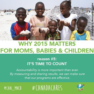 2015 matters for moms, babies and children globally. Reason #5: It's time to count.
