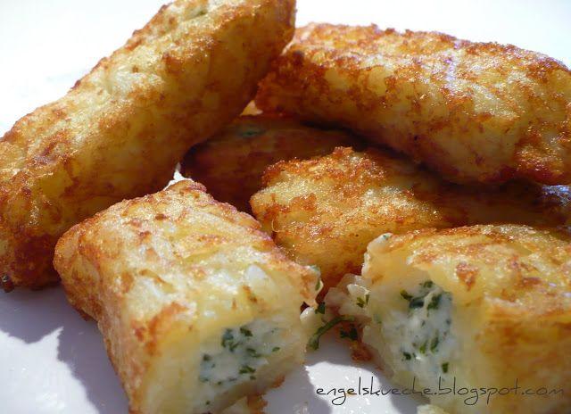 Mal wieder Fertigessen: Kartoffeltaschen mit Frischkäse-Kräuter-Füllung