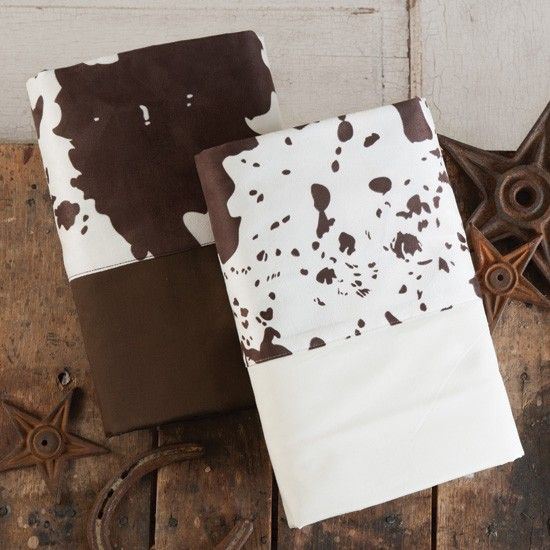 Cowhide Border Sheets Set From 2014 Western Decorating Trends Cowhide Decor