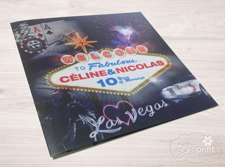 Faire-part Invitation Mariage Las Vegas entièrement personnalisable, papier, couleurs, typos, formats Lysprint.com