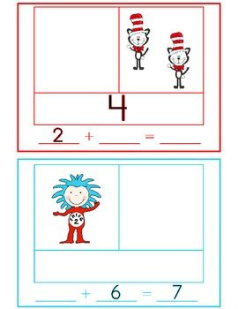This engaging Seuss-themed math activity will give your students practice using part-part-whole organizers to find sums and missing addends. Materials are included for whole group teacher modeling, cooperative learning groups, as well as an individual assessment. $2.00