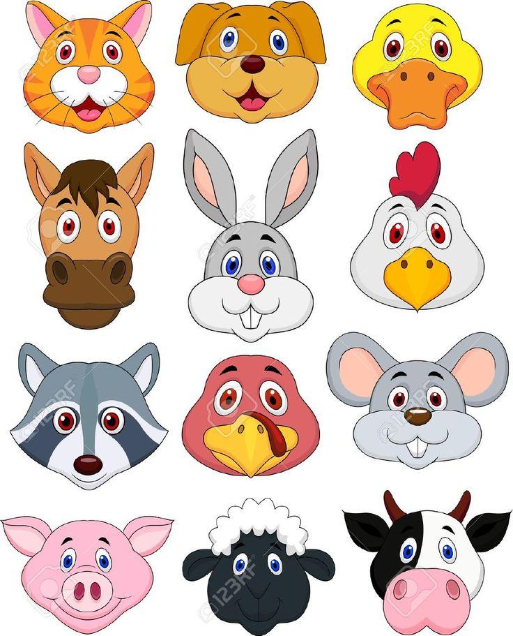 caras de animales de granja para imprimir - Buscar con Google ...