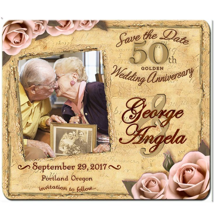 50th wedding anniversary save the date cards thevillas co