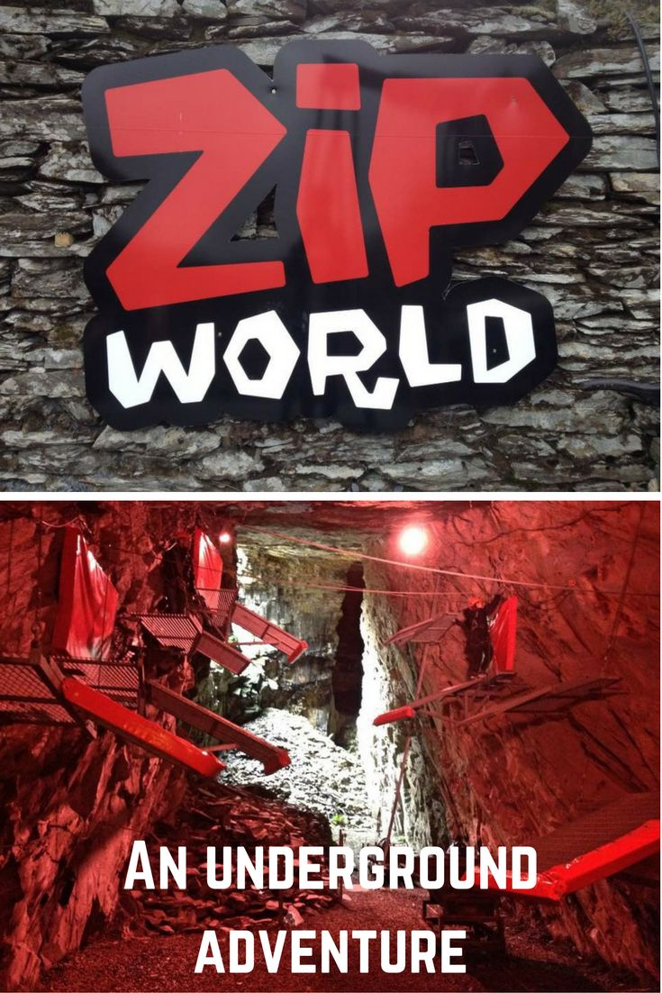 Braving the zip wires and via ferrata on an underground caverns adventure at Zip World, Blaenau Ffestiniog, North Wales.