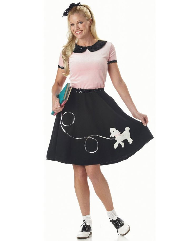 50's Poodle Skirt Womens Costume