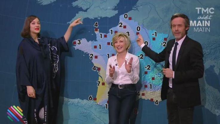 Video à voir!! Marion presente la meteo ;) http://tvmag.lefigaro.fr/programme-tv/emue-marion-cotillard-joue-a-la-miss-meteo-avec-son-idole_5f62b49c-c47c-11e6-a030-cff5af09f187/