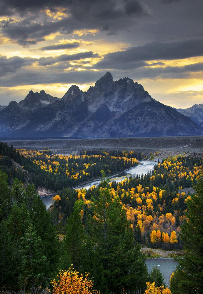 Overlook Snake River Overlook, Grand Teton National Park, USA ❥ڿڰۣ--: