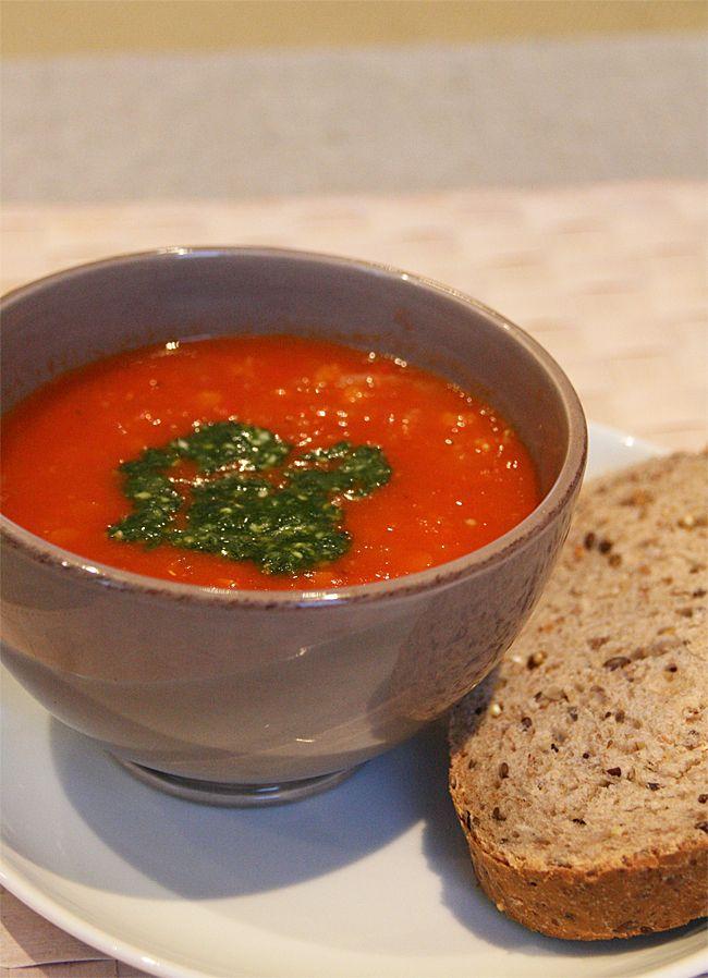 Hjemmelaget tomatsuppe » Veganerliv