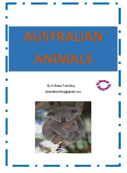 Grade - Year 1 – Year 3, Subject - - EFL - ESL - ELD - EAL/D - Australian Animals By U-BEAUT-TEACHINGCloze exercises on the Koala, Wombat, Kangaroo, Platypus, Possum, Echidna, Dingo, Kookaburra with answer sheet. Other fun activities included.Subjects: English Language Arts, Vocabulary, EFL - ESL - ELDGrades 1st, 2nd, 3rd, HomeschoolTypes: Worksheets