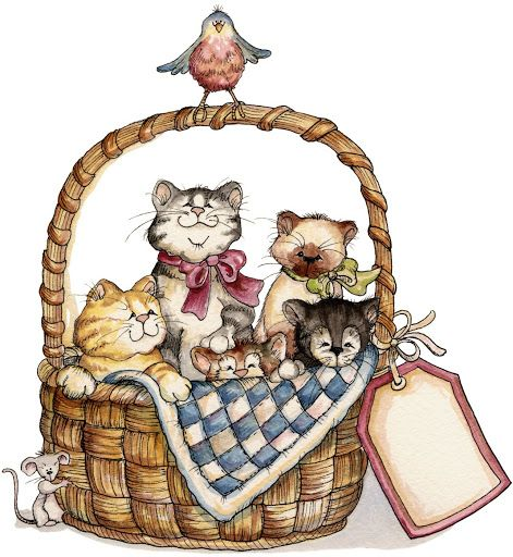 Laurie Furnell - a basket full of cats