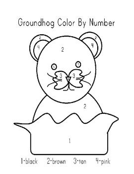 groundhog color by numberfun reinforcer