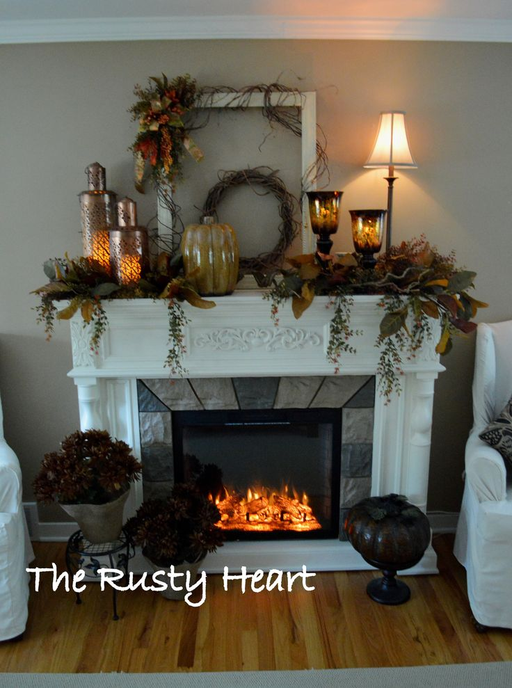 fall mantel decorating for fall pinterest herbst sch ner wohnen und deko. Black Bedroom Furniture Sets. Home Design Ideas