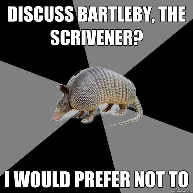 the use of several themes in herman melvilles bartleby the scrivener Major themes in herman melville's bartleby the scrivener bartleby the scrivener | themes share share click to copy language bartleby limits his language the phrase can be read in multiple ways.