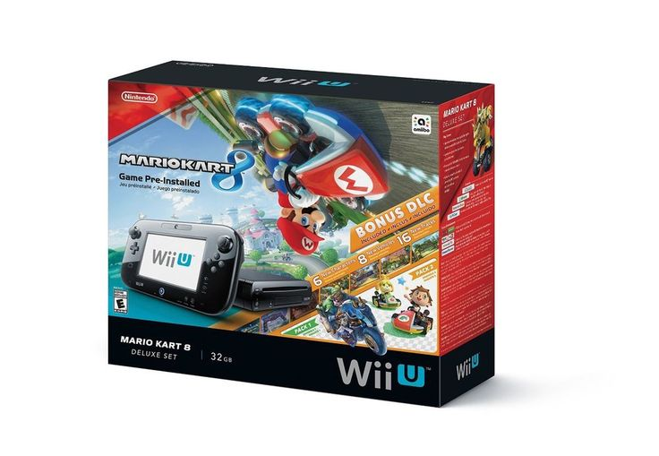 NEW Nintendo Wii U 32GB Mario Kart 8 (Pre-Installed) Deluxe Set #Nintendo