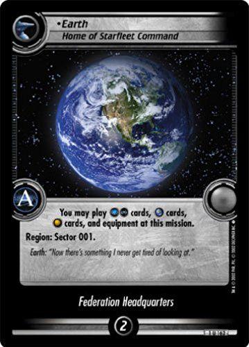 STAR TREK CCG 2E SE SECOND EDITION EARTH HOME OF STARFLEET COMMAND 1U162 @ niftywarehouse.com #NiftyWarehouse #StarTrek #Trekkie #Geek #Nerd #Products