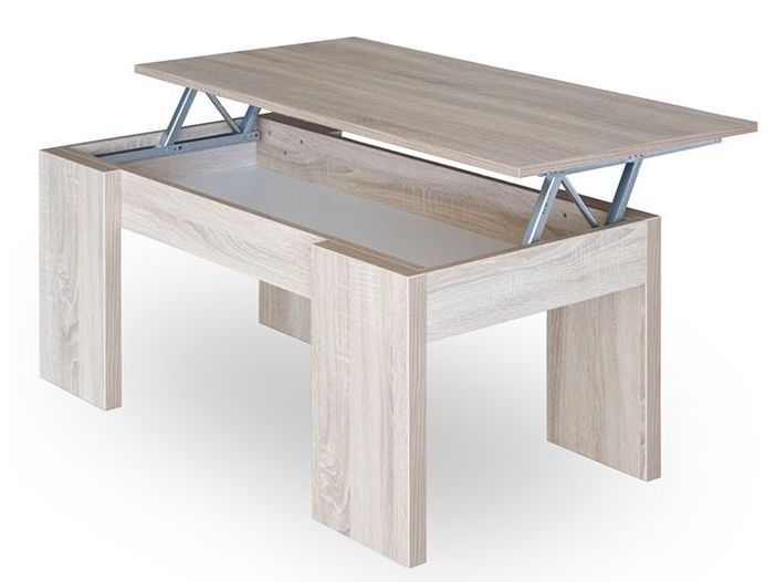 Table Basse Relevable Chene Clair Dopp 100 En 2020 Table Basse Table Basse Relevable Chene Clair