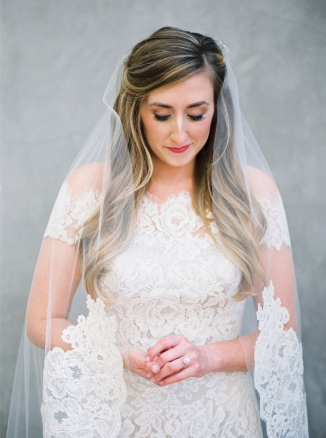 Gorgeous lace: http://www.stylemepretty.com/2016/06/27/a-fresh-take-on-an-industrial-wedding-with-serious-pops-of-color/   Photography: Michelle Boyd Photography - http://www.michelleboydphotography.com/