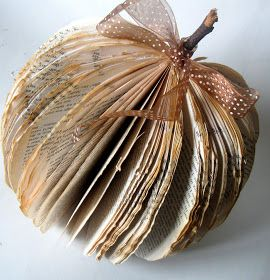Craftberry Bush: Fall in love with Fall.... A pumpkin made out of a book. ❤️