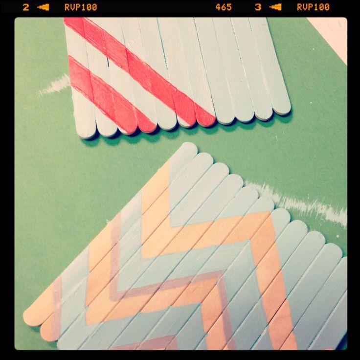 How to Make a Popsicle Stick Coaster #summerofjoann #diy