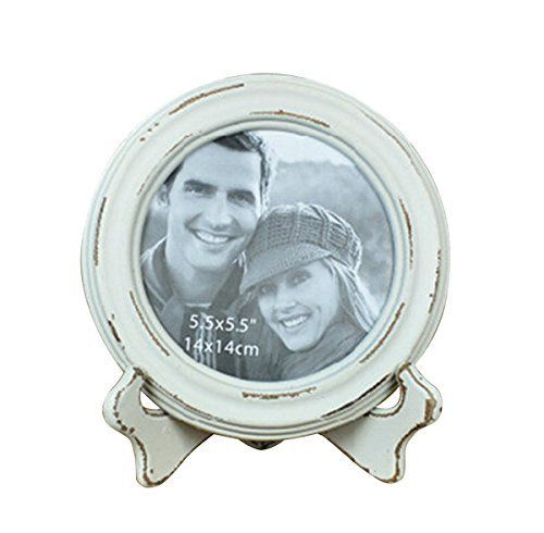 White Round Picture Frame
