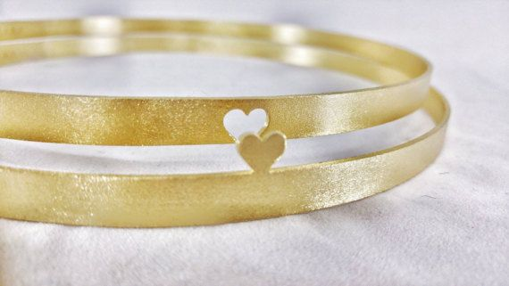 Love Crowns / Stefana / Greek Crowns / Orthodox Greek Wedding Crowns / Στεφανα Γαμου / Greek Tiaras / Wedding Tiaras / Heart Pattern