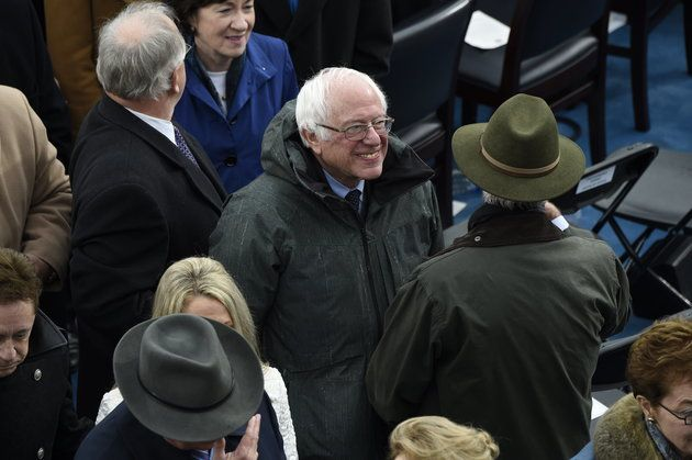 """Bernie Sanders Calls Out Trump Inauguration For 'Billionaire After Billionaire' In VIP Section """"I find it somewhat amusing that you're attacking the establishment when the establishment is sitting right behind you."""""""