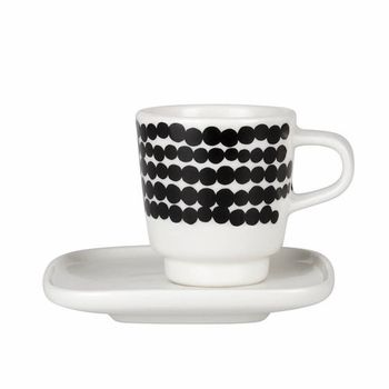 Marimekko Räsymatto Espresso Cup & Saucer Set  #pintofinn