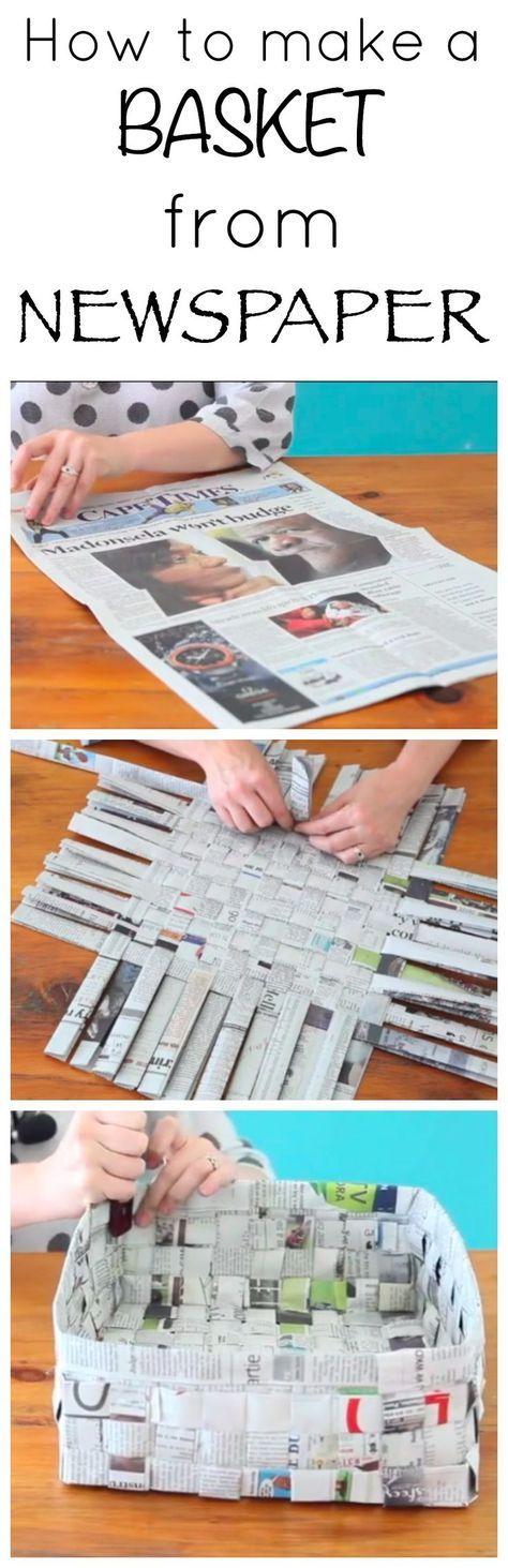 cesto con periódicos! !