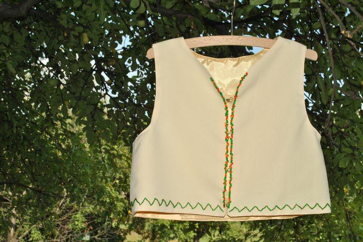 yellow short vest