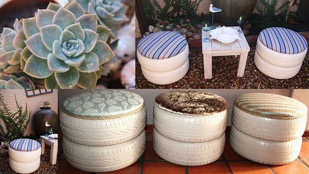 DIY: Tyre Chairs loving it I want them