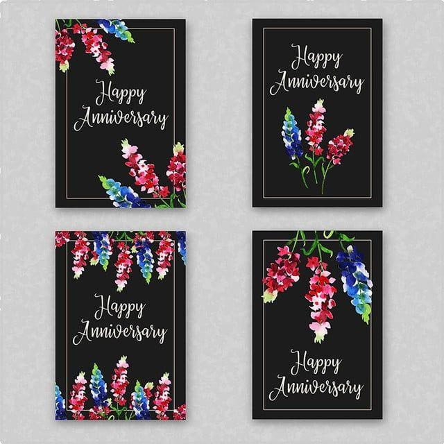ألوان مائية الزهور الذكرى بطاقة دعوة الإطار Valentine Background Anniversary Frame Vector Free