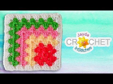 Mitered Granny Square Crochet Pattern - YouTube