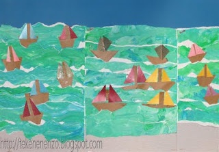 zee met bootjes