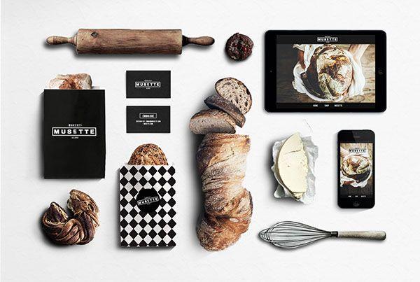 MUSETTE bakery by Judit Besze, via Behance