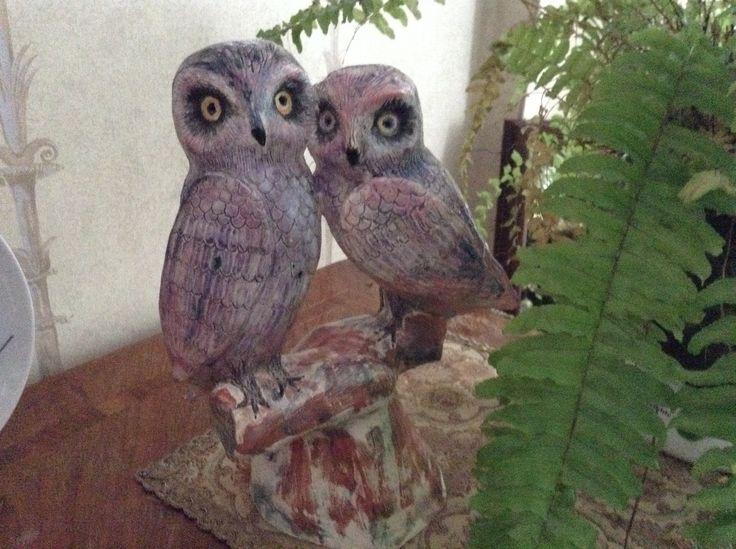 """Совы"", 2013 #owls  #ceramics #IrinaPirogova #prostyeludi"