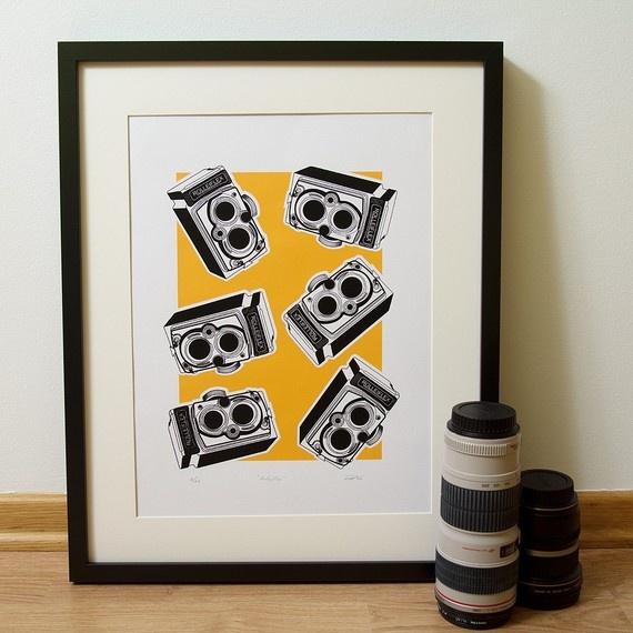 Rollieflex screen print. $37.50